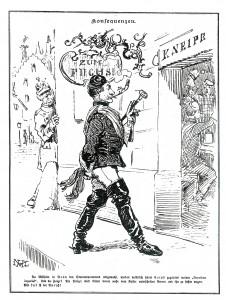Historische Karikatur: Free Willy in Bonn