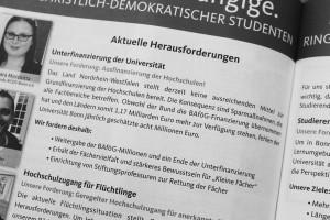 Auszug aus dem Wahlprogramm des RCDS