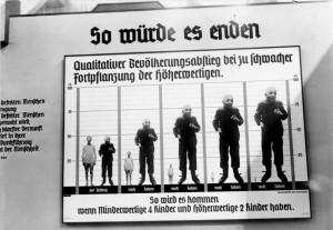 NS-Propaganda zu Eugenik und Demografie von 1935. Foto: Bundesarchiv