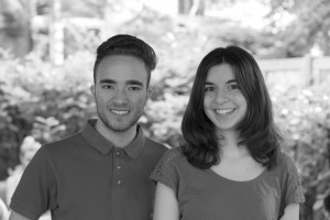 Mitglieder der Veganen Hochschulgruppe Benjamin Kolb und Anna-Lena Tetzner. Foto: S. F. Johanns