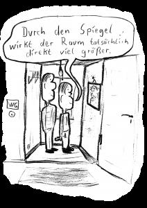 Karikatur und Text Jan Bachmann