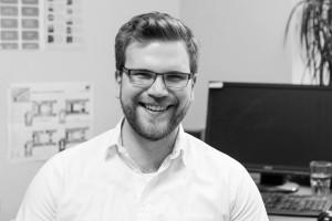 Simon Merkt (JUSO HSG) im Büro des AStA-Vorsitz. Foto: Sam F. Johanns