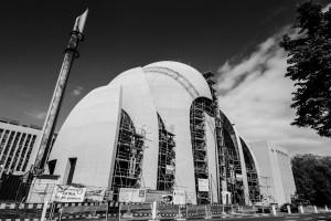 Bau der Zentralmoschee in Köln. Foto: Thorsten Hansen