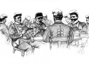 Historische Zeichnung von  C. W. Allers von 1902