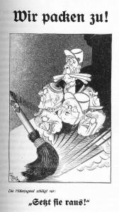 NS-Propaganda gegen Studentenverbindungen. 1935